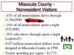 missoula county nonresident visitors
