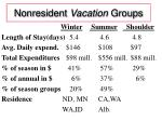 nonresident vacation groups