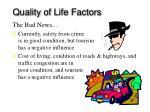 quality of life factors32