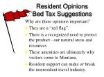 resident opinions bed tax suggestions41