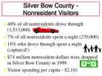 silver bow county nonresident visitors