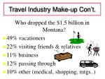 travel industry make up con t