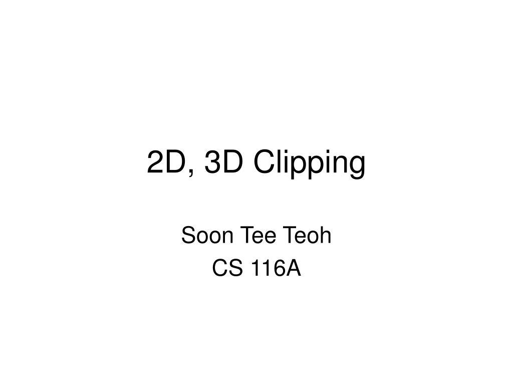 2d 3d clipping l.