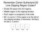 remember cohen sutherland 2d line clipping region codes