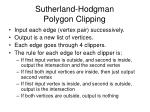 sutherland hodgman polygon clipping