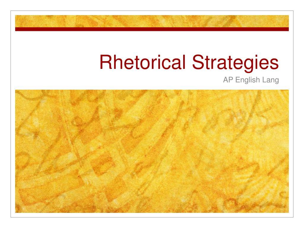 rhetorical strategies l.