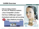carin overview