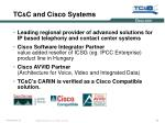 tc c and cisco systems