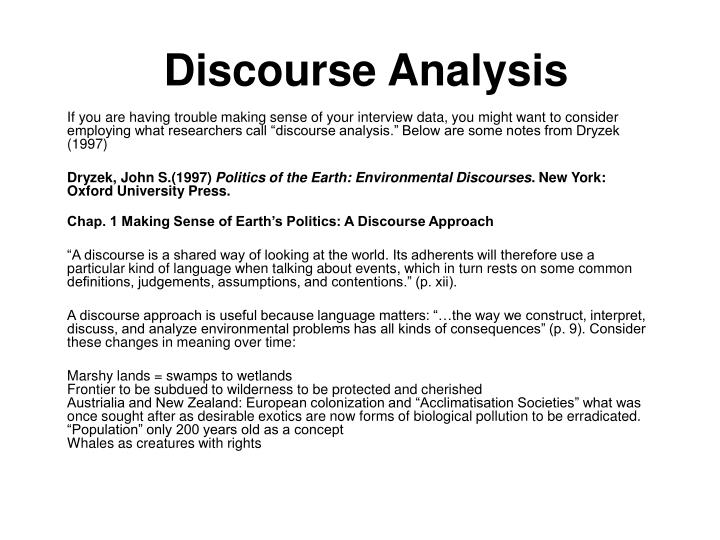discourse analysis n.