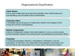 organizational classification