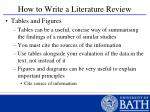 how to write a literature review40
