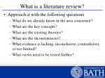 what is a literature review32