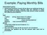 example paying monthly bills45