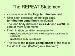 the repeat statement51