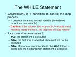 the while statement25