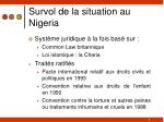 survol de la situation au nigeria