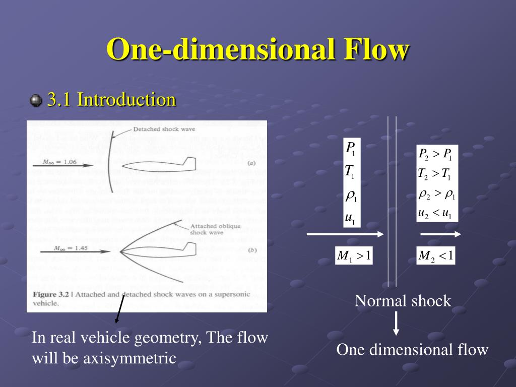 one dimensional flow l.