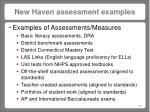 new haven assessment examples