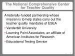 the national comprehensive center for teacher quality