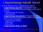 l apprentissage inductif survol