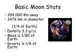 basic moon stats