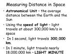 measuring distance in space