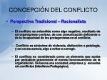 concepci n del conflicto