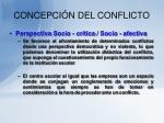 concepci n del conflicto11