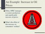 an example increase in oil prices