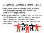 3 discount department stores cont