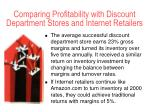 comparing profitability with discount department stores and internet retailers