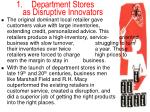 department stores as disruptive innovators