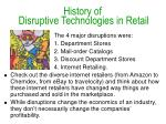history of disruptive technologies in retail