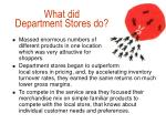 what did department stores do