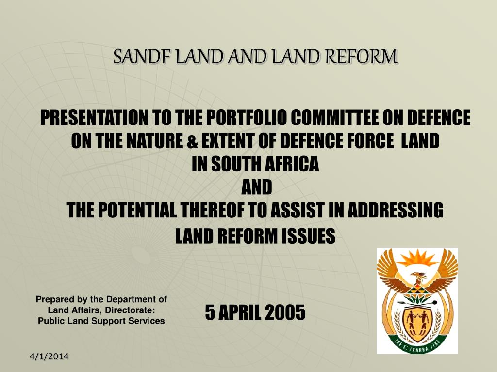 sandf land and land reform l.