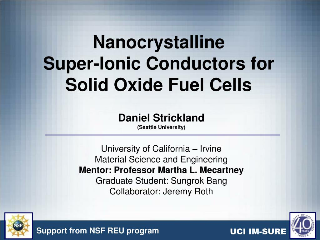 nanocrystalline super ionic conductors for solid oxide fuel cells l.