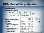 xrd calculate grain size