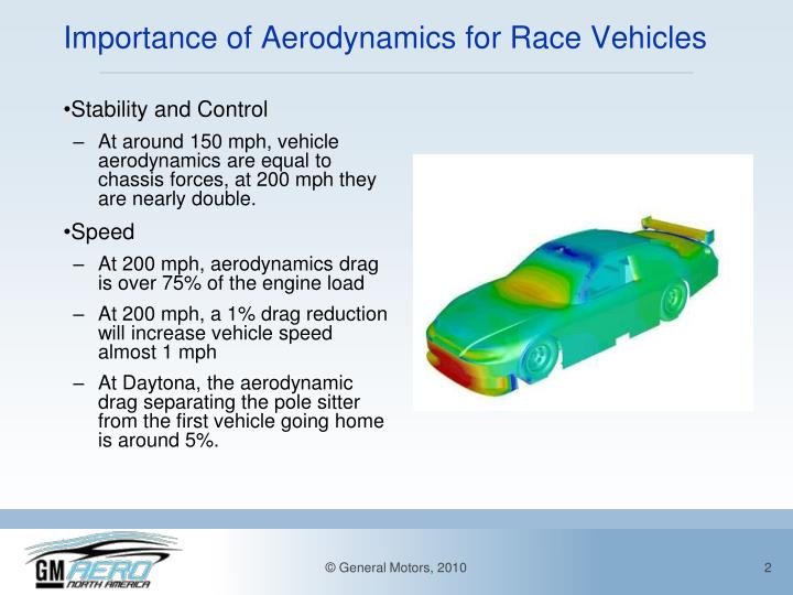 Importance of aerodynamics for race vehicles