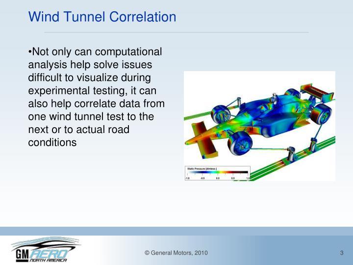 Wind tunnel correlation