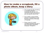 how to make a scrapbook fill a photo album keep a diary