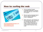 how to surfing the web