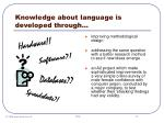 knowledge about language is developed through10