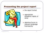 presenting the project report