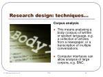 research design techniques