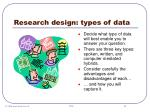 research design types of data