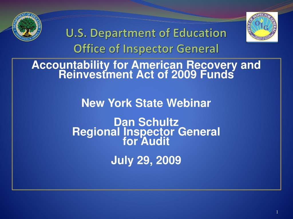 u s department of education office of inspector general l.