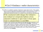 12 13 guidance outlet characteristics