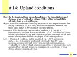 14 upland conditions