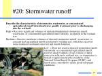 20 stormwater runoff
