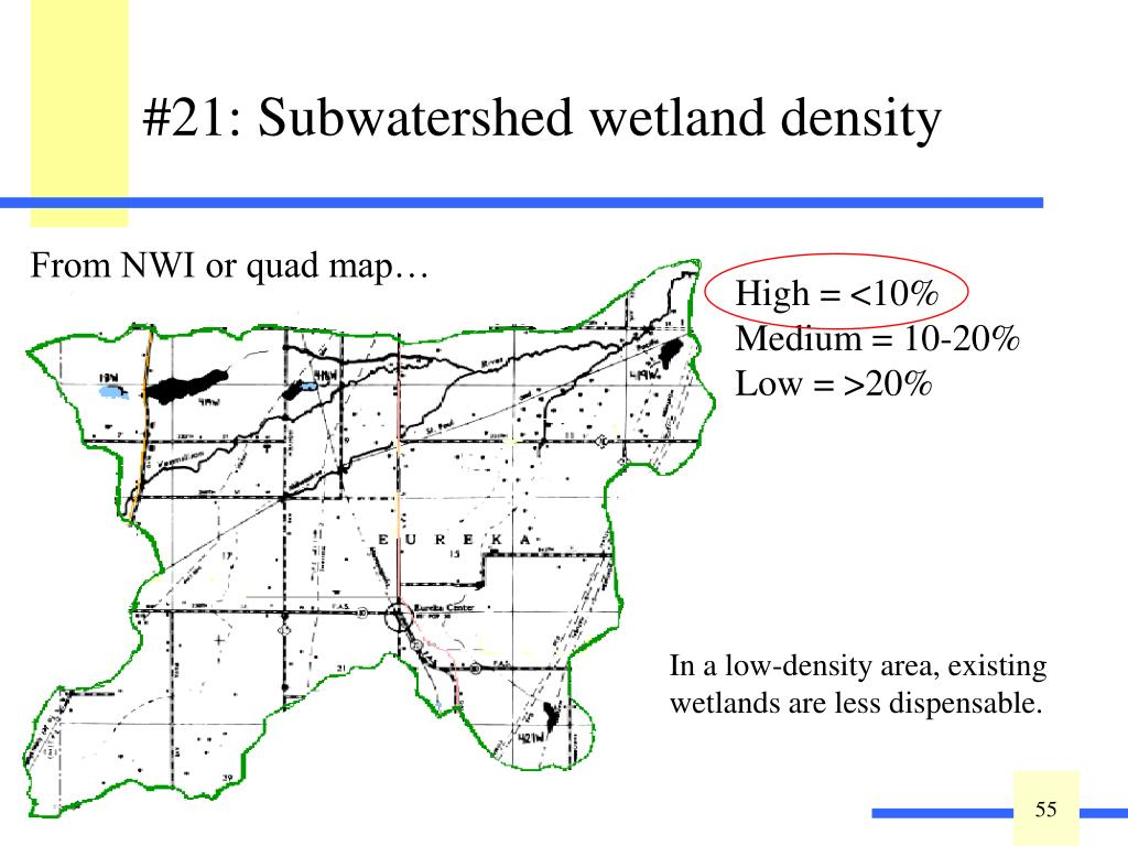 #21: Subwatershed wetland density